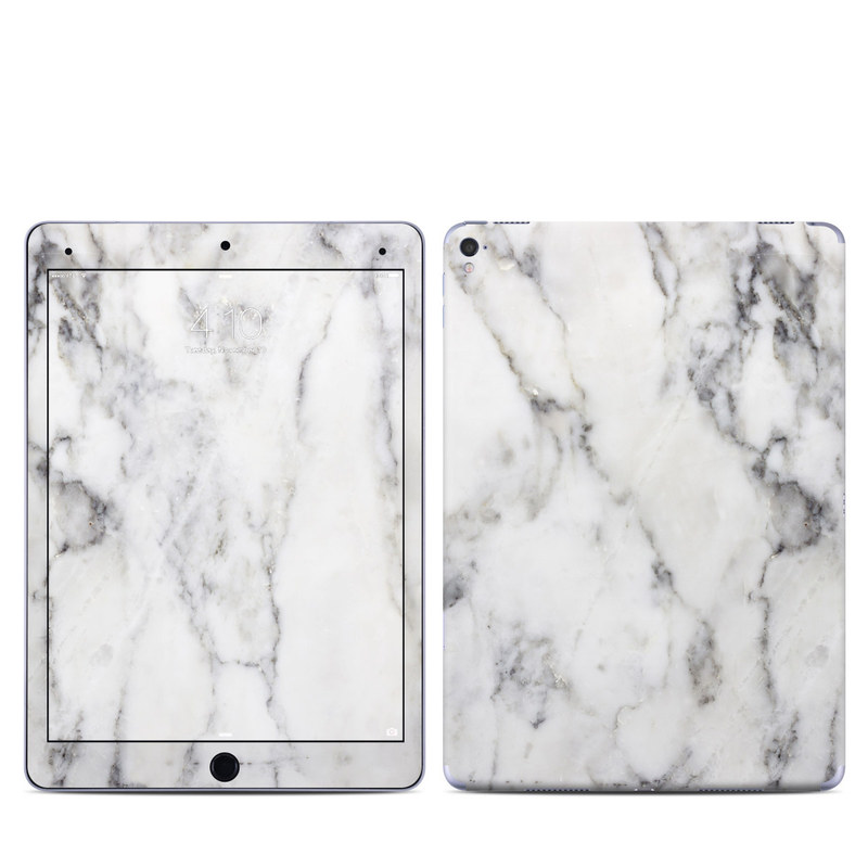 iPad Pro 1st Gen 9.7-inch Skin design of White, Geological phenomenon, Marble, Black-and-white, Freezing with white, black, gray colors