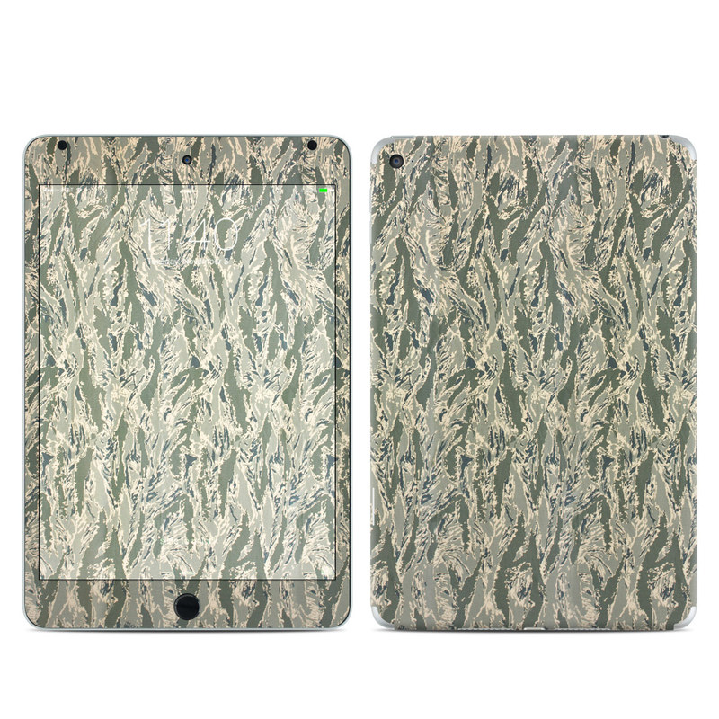 iPad mini 4 Skin design of Pattern, Grass, Plant with gray, green colors