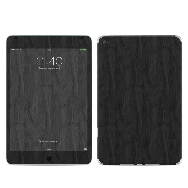 Black Woodgrain iPad mini 4 Skin