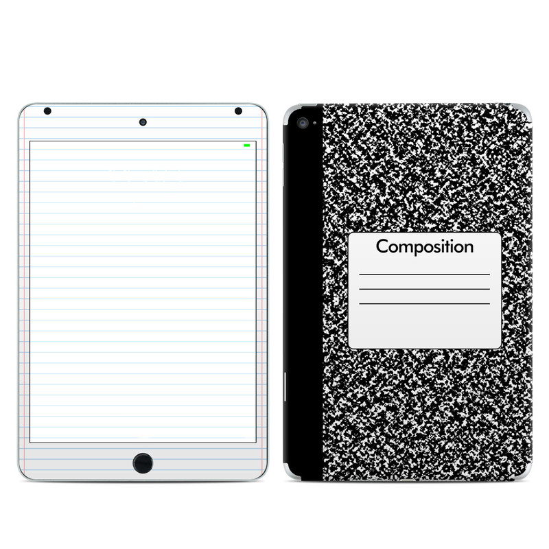 iPad mini 4 Skin design of Text, Font, Line, Pattern, Black-and-white, Illustration with black, gray, white colors