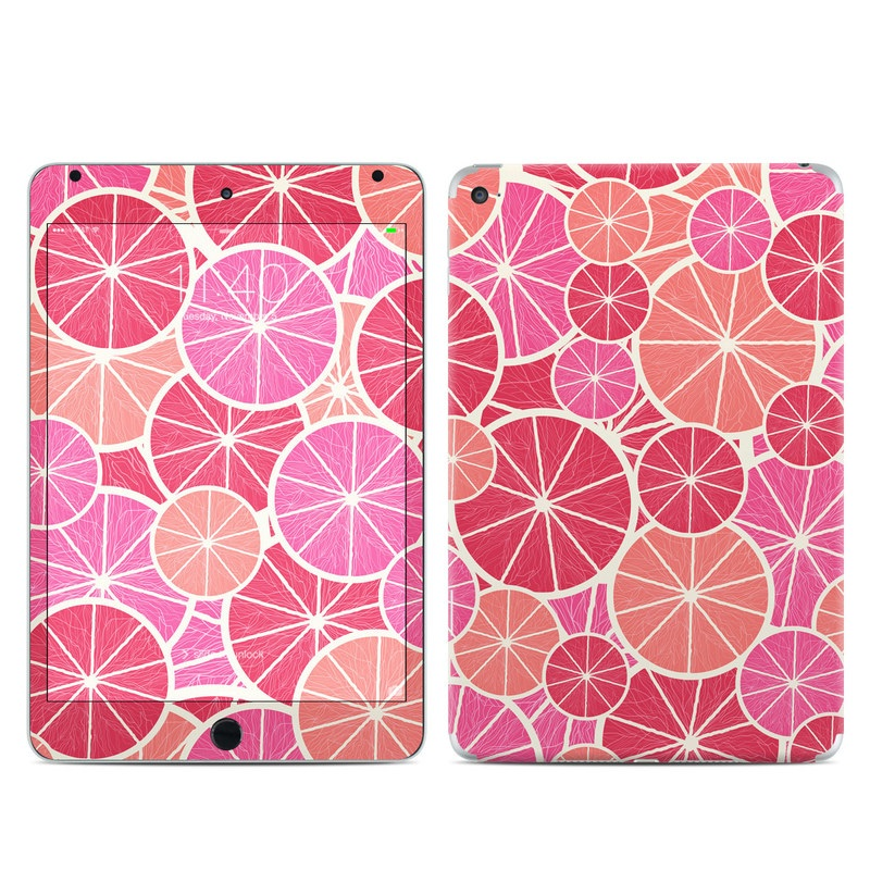 iPad mini 4 Skin design of Pattern, Pink, Line, Magenta, Design, Circle, Visual arts, Plant, Symmetry with pink, red, gray, purple, yellow colors