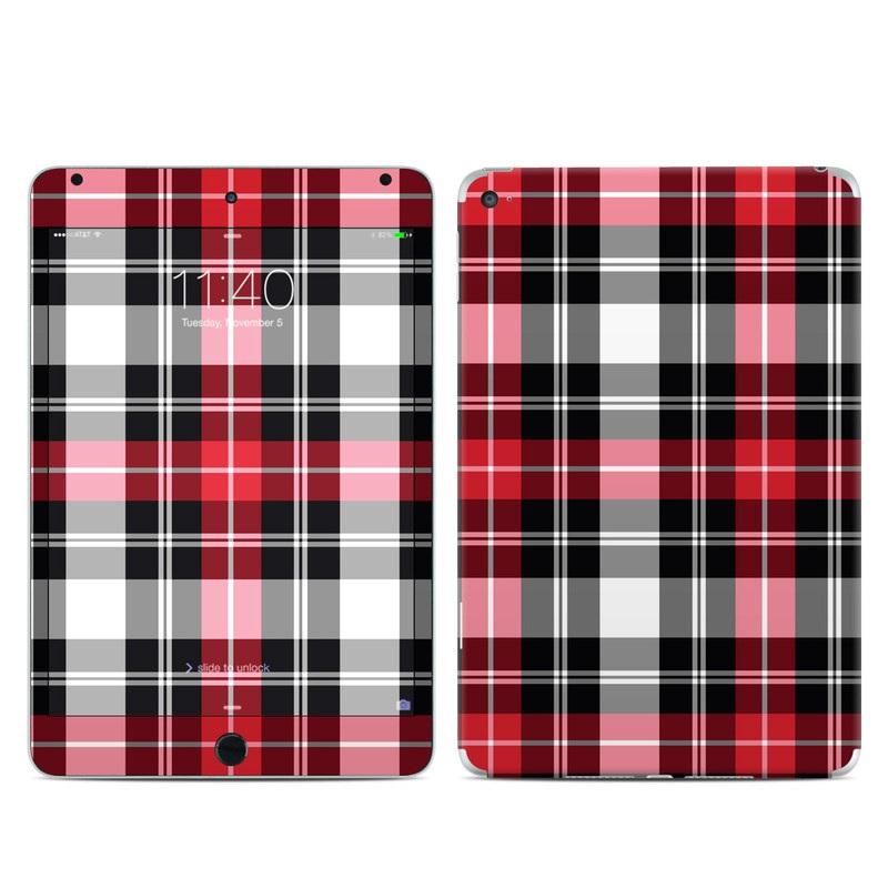 Red Plaid iPad mini 4 Skin