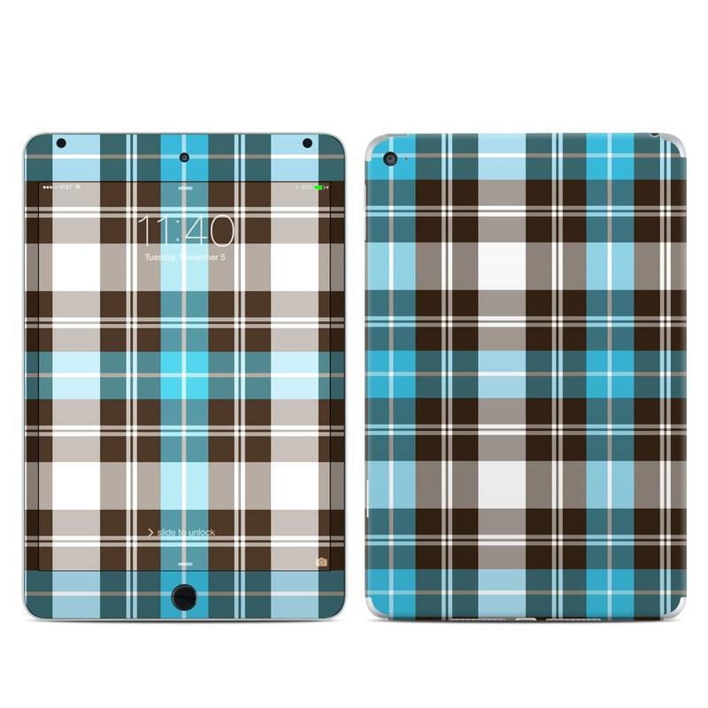 Turquoise Plaid iPad mini 4 Skin