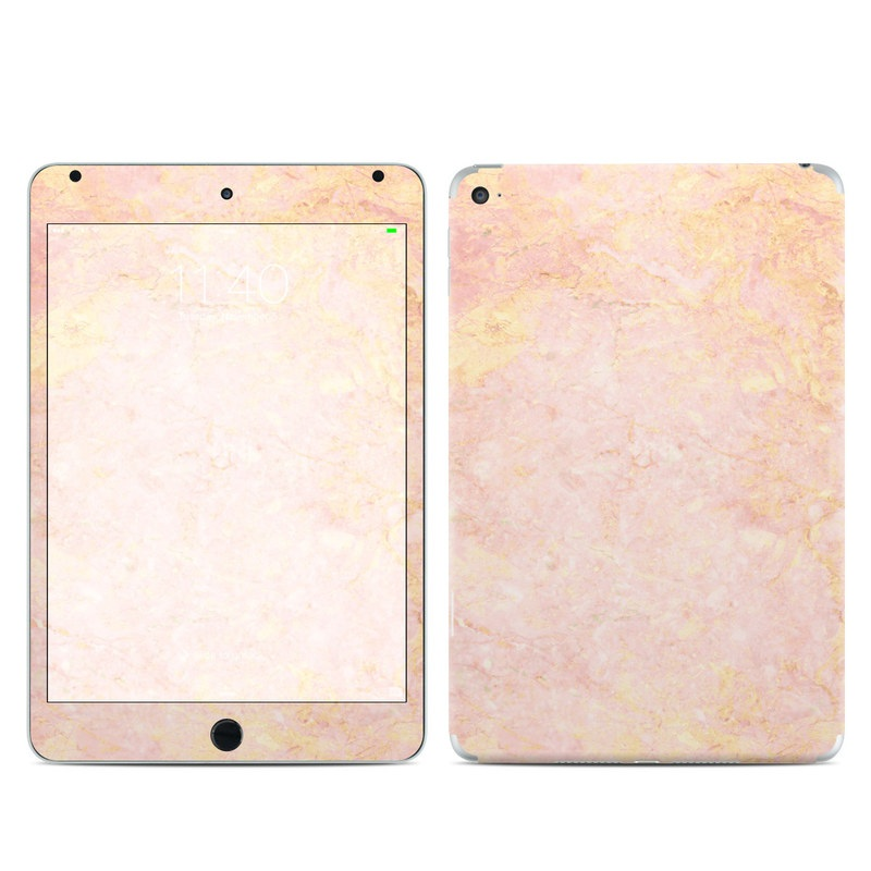 iPad mini 4 Skin design of Pink, Peach, Wallpaper, Pattern with pink, yellow, orange colors