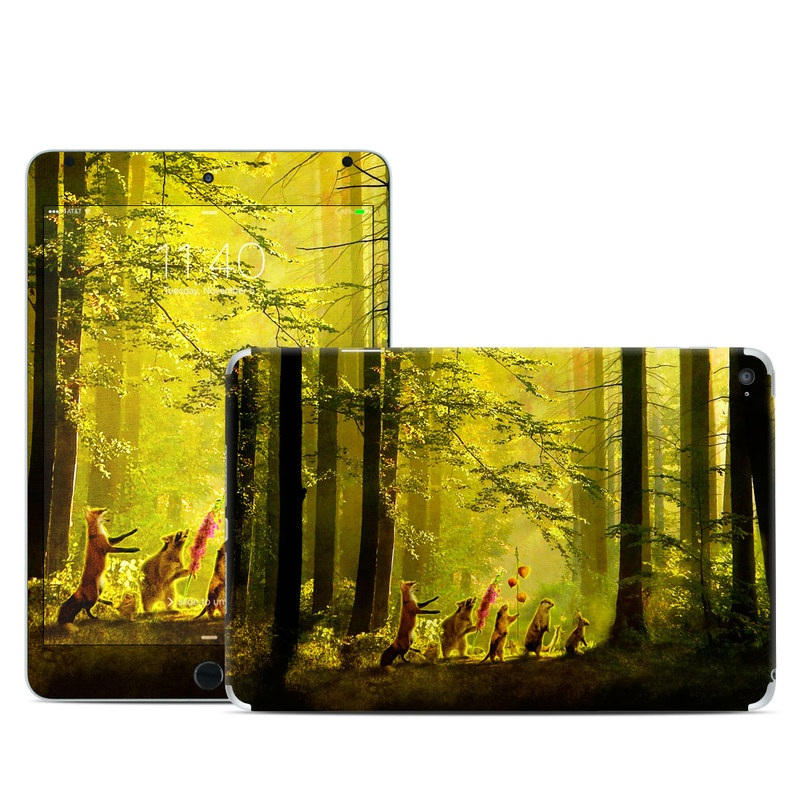 iPad mini 4 Skin design of Nature, Natural environment, Light, Forest, Natural landscape, Yellow, Biome, Sunlight, Woodland, Tree with black, green, red colors