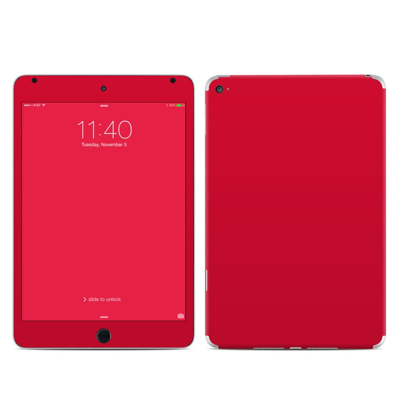 iPad mini 4 Skin design of Red, Pink, Maroon, Purple, Orange, Violet, Magenta, Material property, Font, Peach with red colors