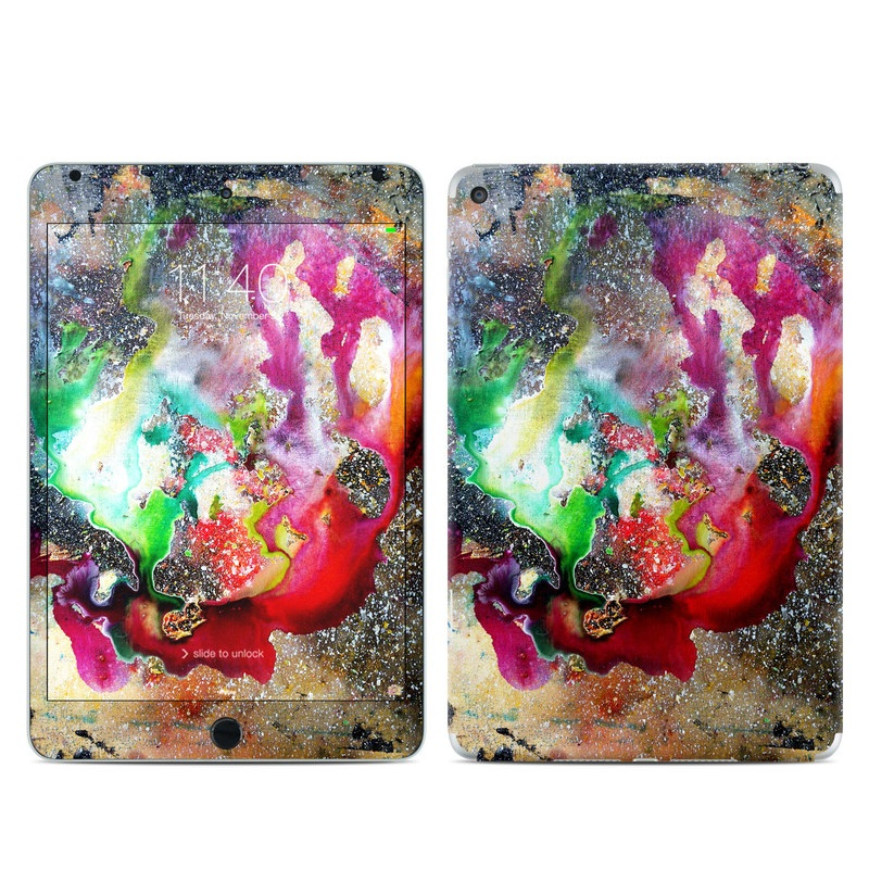 iPad mini 4 Skin design of Organism, Space, Art, Nebula, Rock with black, gray, red, green, blue, purple colors