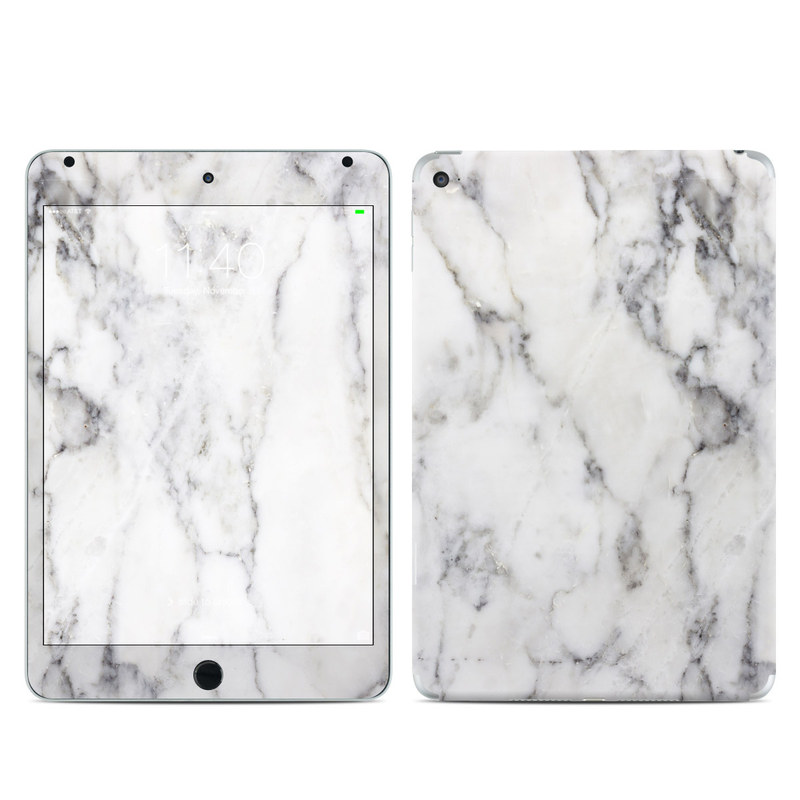 White Marble iPad mini 4 Skin