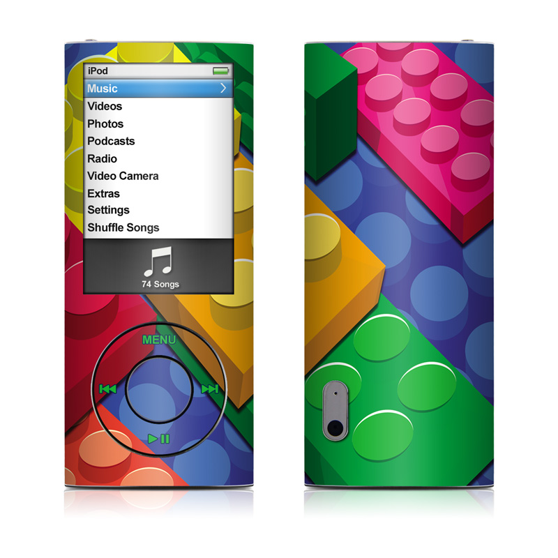 iPod nano 5th Gen Skin design of Colorfulness, Pattern, Circle, Games, Play with red, blue, green, yellow, orange, pink colors