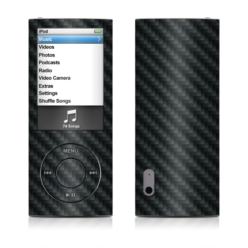 iPod nano 5th Gen Skin design of Green, Black, Blue, Pattern, Turquoise, Carbon, Textile, Metal, Mesh, Woven fabric with black colors