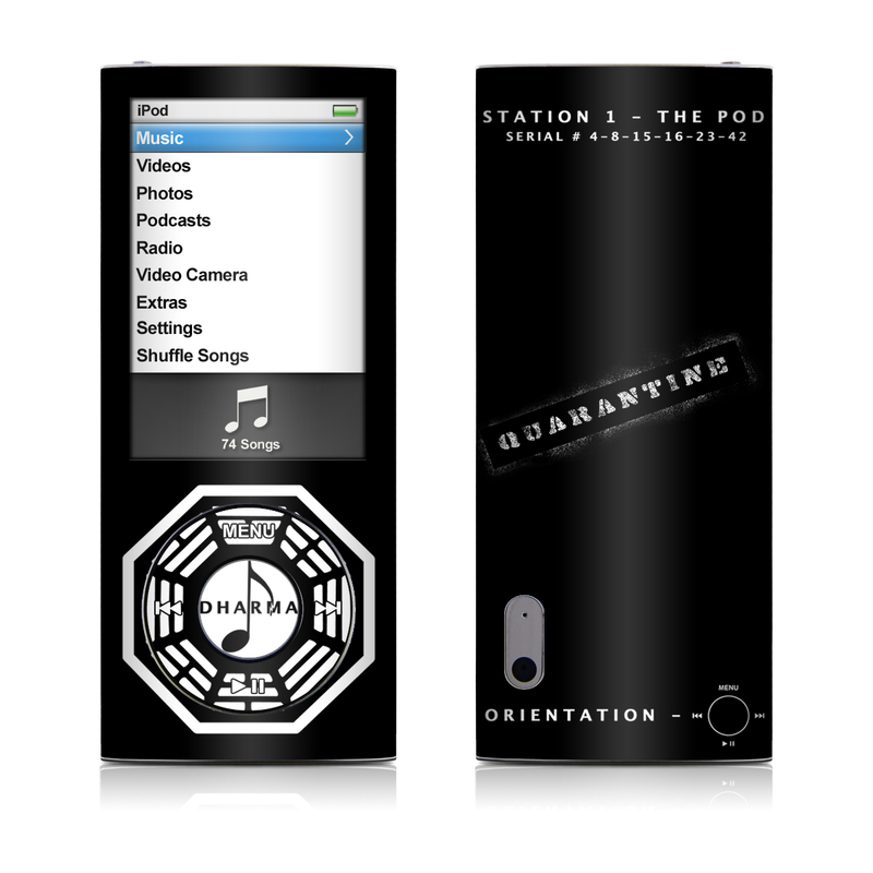 Dharma Black iPod nano 5th Gen Skin