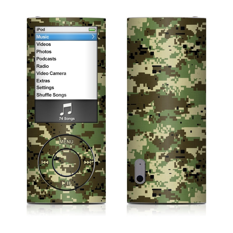 Digital Woodland Camo iPod nano 5th Gen Skin
