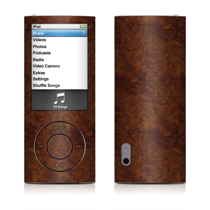 Dark Burlwood iPod nano 5th Gen Skin