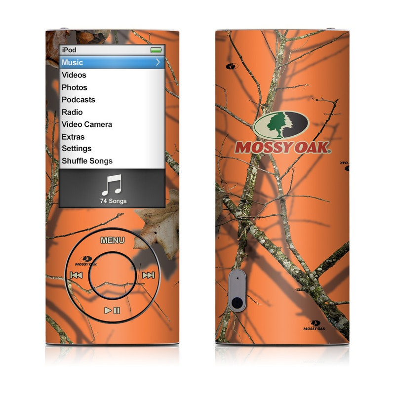 iPod nano 5th Gen Skin design of Tree, Botany, Branch, Root, Plant, Illustration, Adaptation, Art, Graphic design, Drawing with orange, green, red, black, gray colors