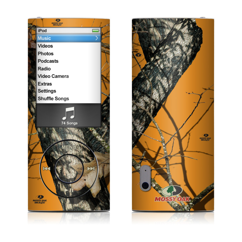 iPod nano 5th Gen Skin design of Tree, Branch, Canoe birch, Woody plant, Plant, Leaf, Adaptation, Wildlife, Trunk, Birch family with green, black, gray, red colors