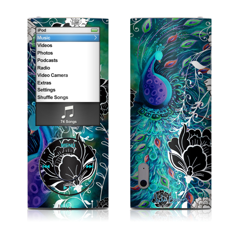 Peacock Garden iPod nano 5th Gen Skin