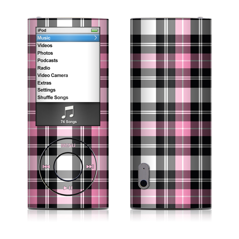 Pink Plaid iPod nano 5th Gen Skin