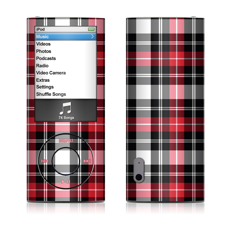 Red Plaid iPod nano 5th Gen Skin