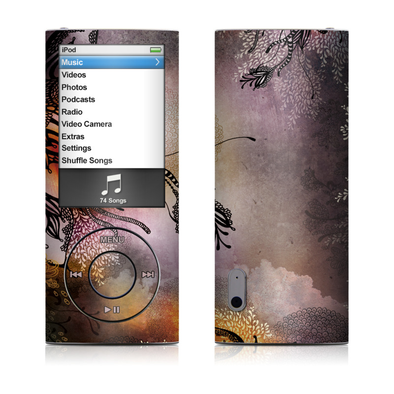 iPod nano 5th Gen Skin design of Illustration, Graphic design, Cg artwork, Art, Fictional character, Graphics, Visual arts, Darkness with black, gray, red, green, purple colors