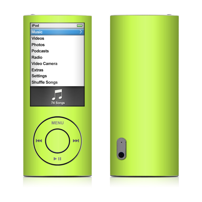 Solid State Lime iPod nano 5th Gen Skin