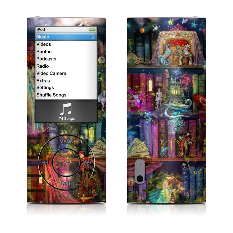iPod nano 5th Gen Skin design of Painting, Art, Theatrical scenery with black, red, gray, green, blue colors