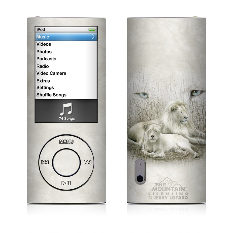 White Lion iPod nano 5th Gen Skin