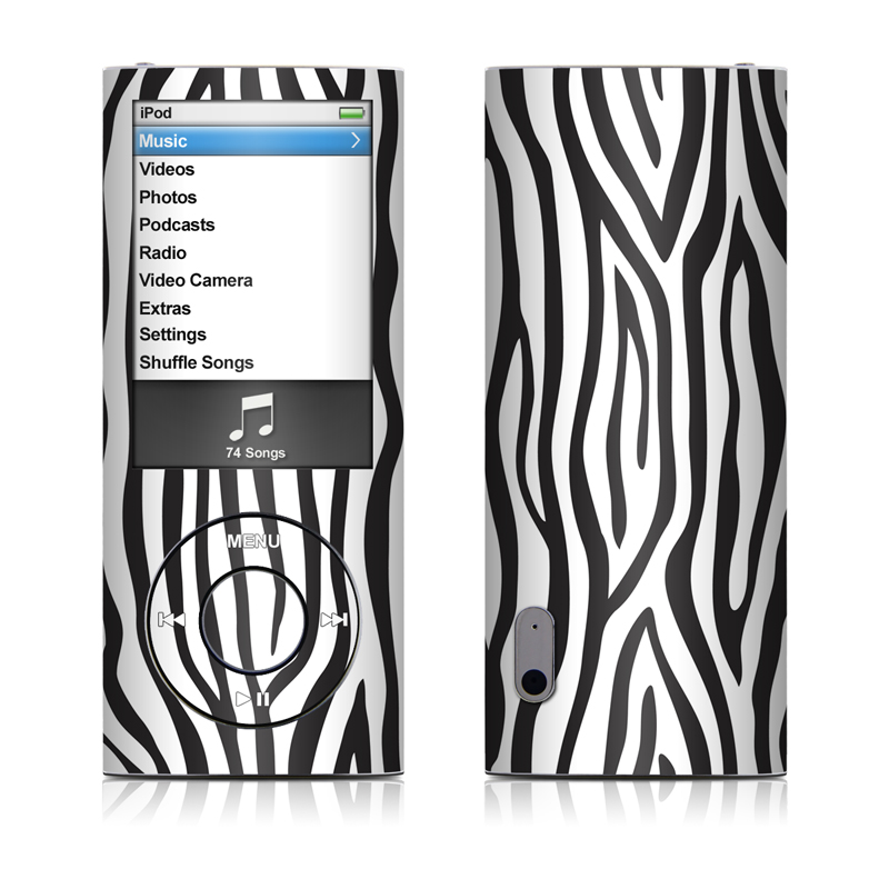 iPod nano 5th Gen Skin design of Pattern, Line, Design, Monochrome, Black-and-white, Wildlife, Parallel with black, white, gray colors