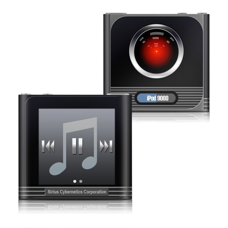iPod nano 6th Gen Skin design of Screenshot, Technology, Circle, Space with black, gray, red, blue colors