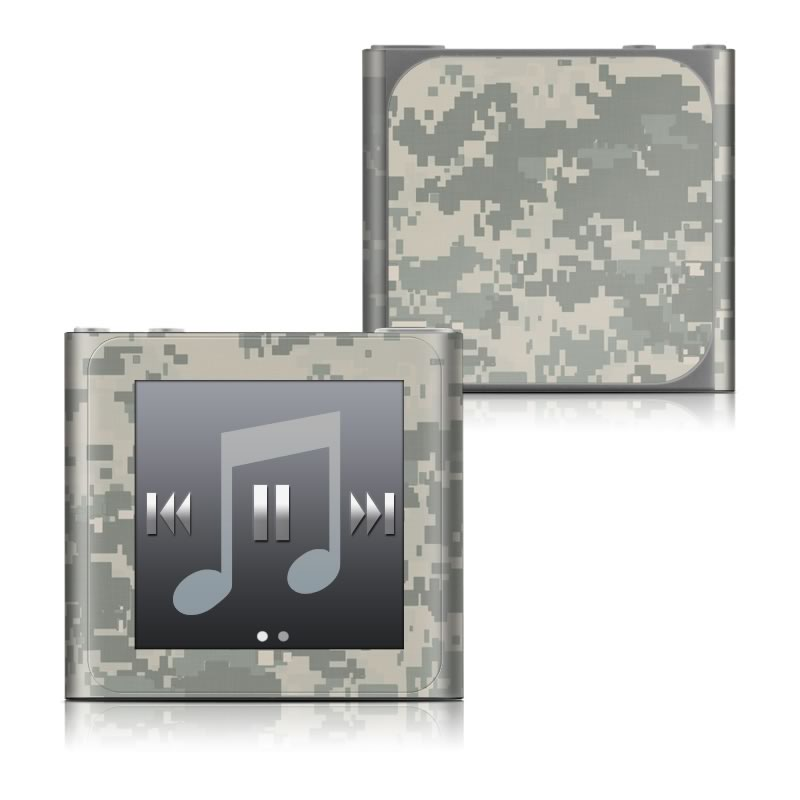 iPod nano 6th Gen Skin design of Military camouflage, Green, Pattern, Uniform, Camouflage, Design, Wallpaper with gray, green colors