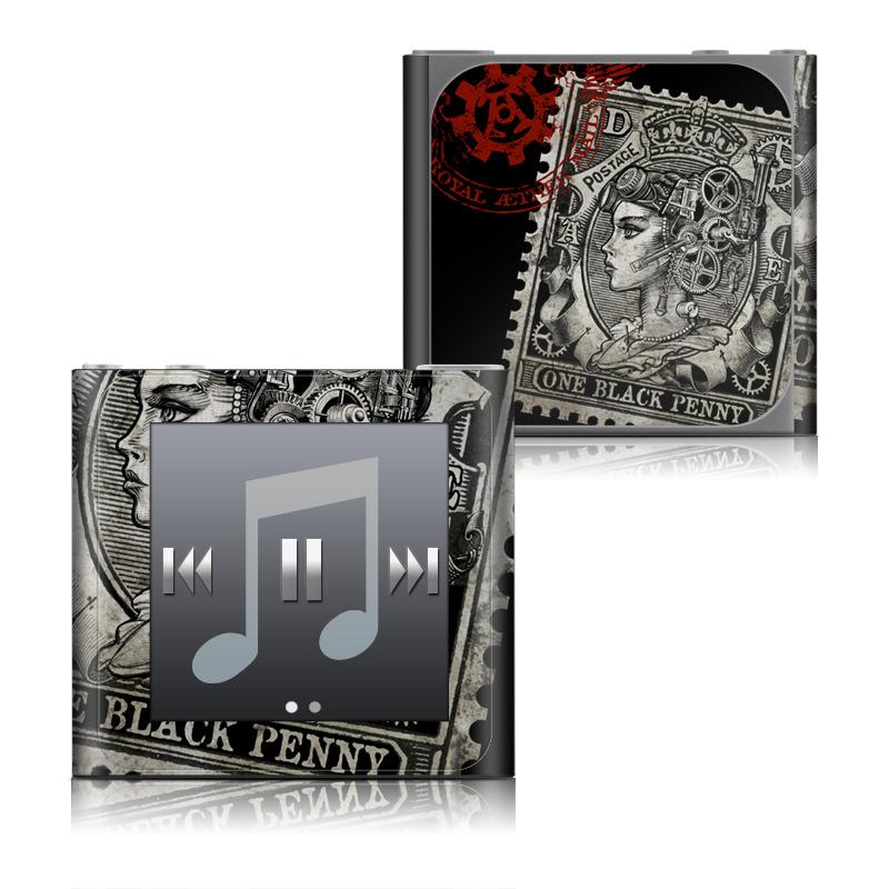 Black Penny iPod nano 6th Gen Skin