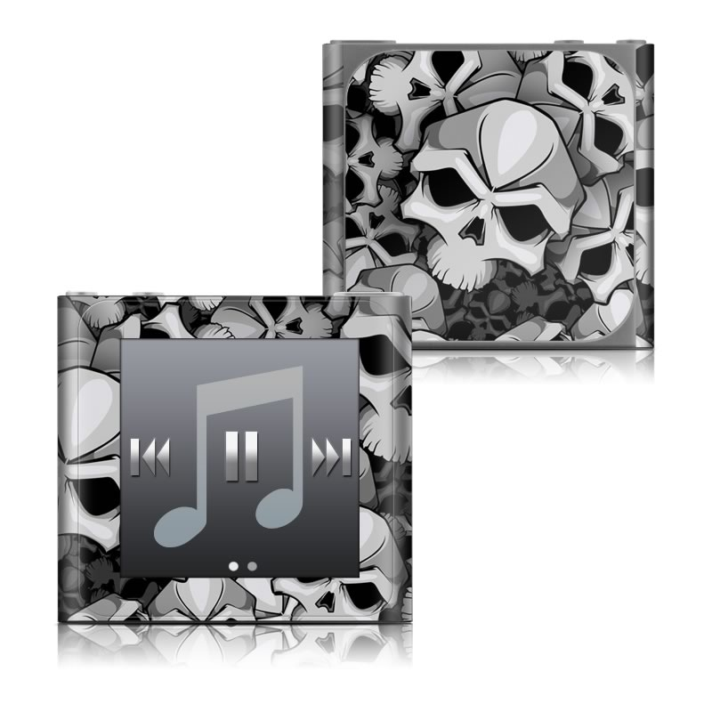 iPod nano 6th Gen Skin design of Pattern, Black-and-white, Monochrome, Ball, Football, Monochrome photography, Design, Font, Stock photography, Photography with gray, black colors