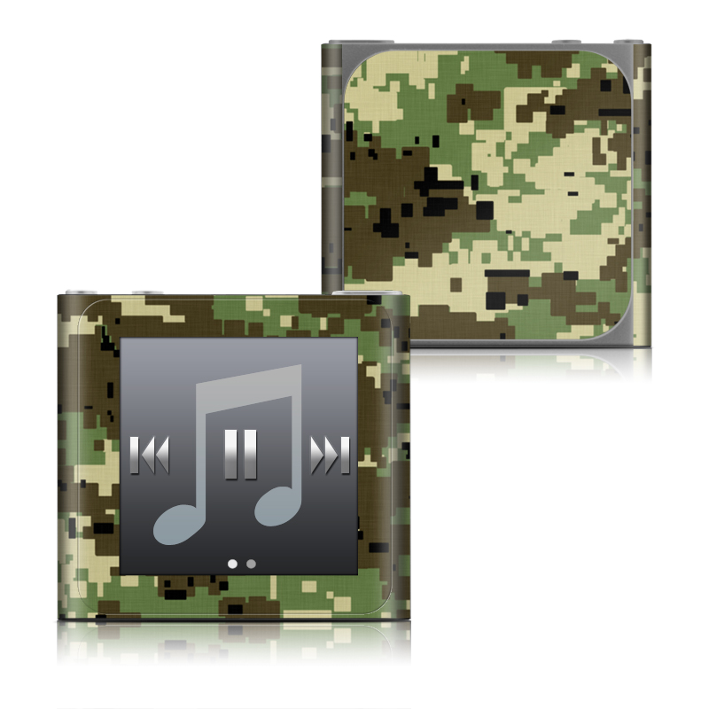 iPod nano 6th Gen Skin design of Military camouflage, Pattern, Camouflage, Green, Uniform, Clothing, Design, Military uniform with black, gray, green colors