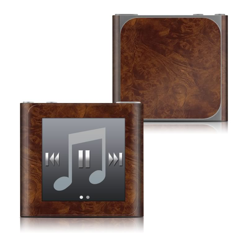 Dark Burlwood iPod nano 6th Gen Skin