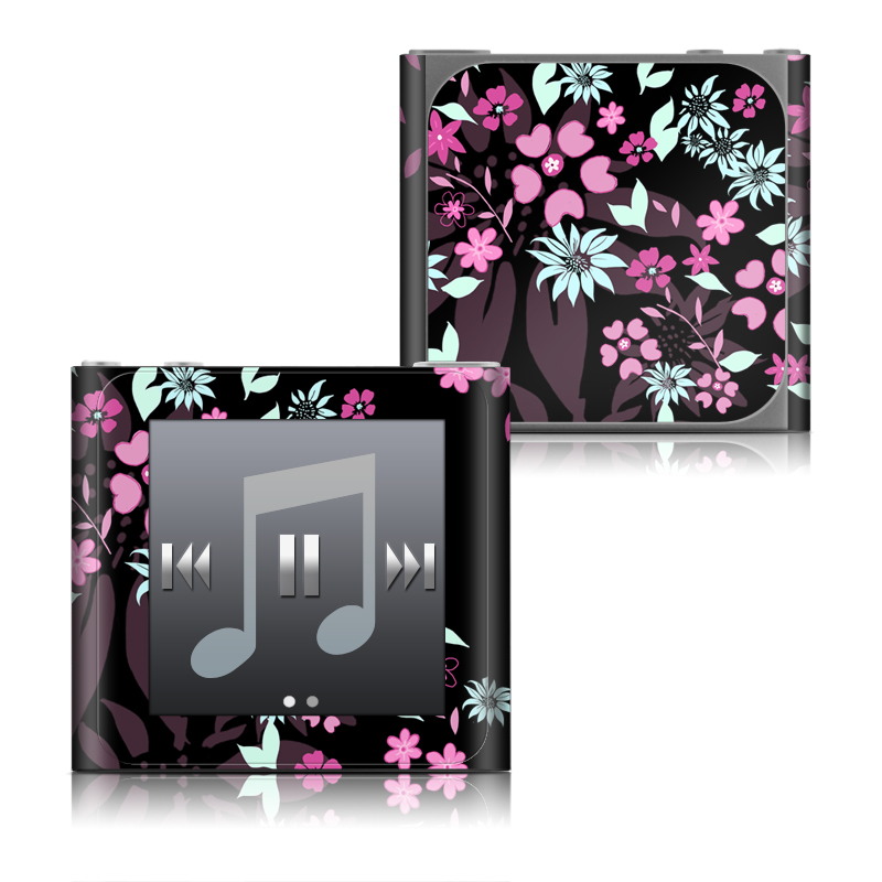 Dark Flowers iPod nano 6th Gen Skin
