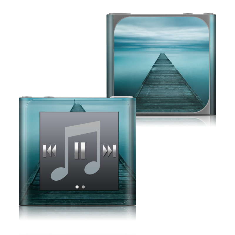 iPod nano 6th Gen Skin design of Sea, Water, Horizon, Sky, Blue, Ocean, Daytime, Calm, Fixed link, Symmetry with black, blue, gray colors