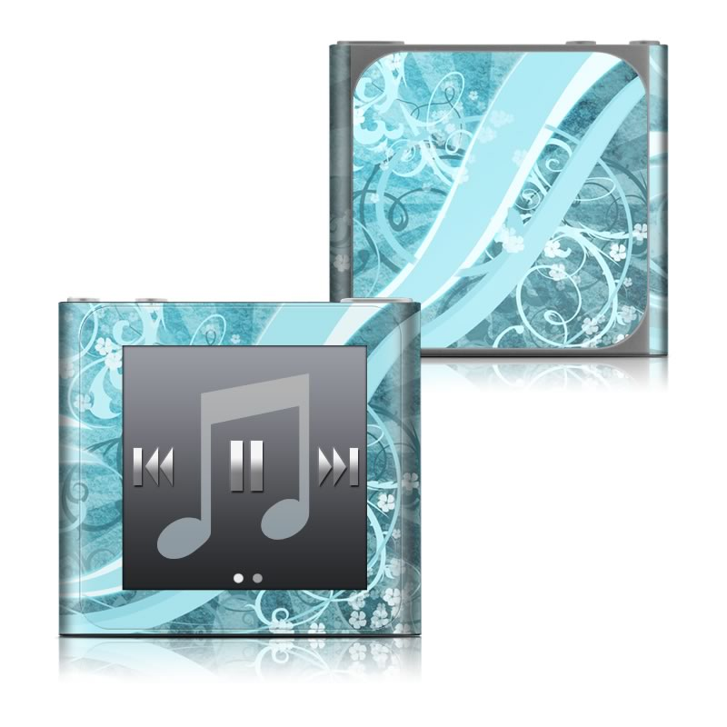 Flores Agua iPod nano 6th Gen Skin
