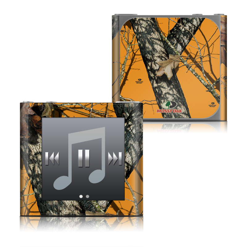 iPod nano 6th Gen Skin design of Tree, Branch, Canoe birch, Woody plant, Plant, Leaf, Adaptation, Wildlife, Trunk, Birch family with green, black, gray, red colors