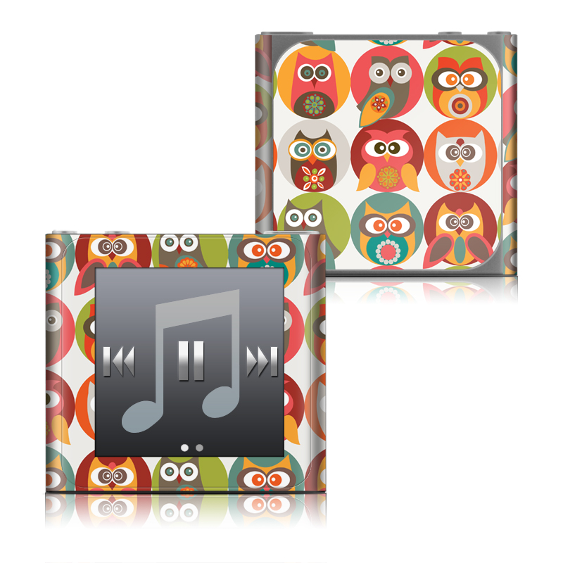 Owls Family iPod nano 6th Gen Skin