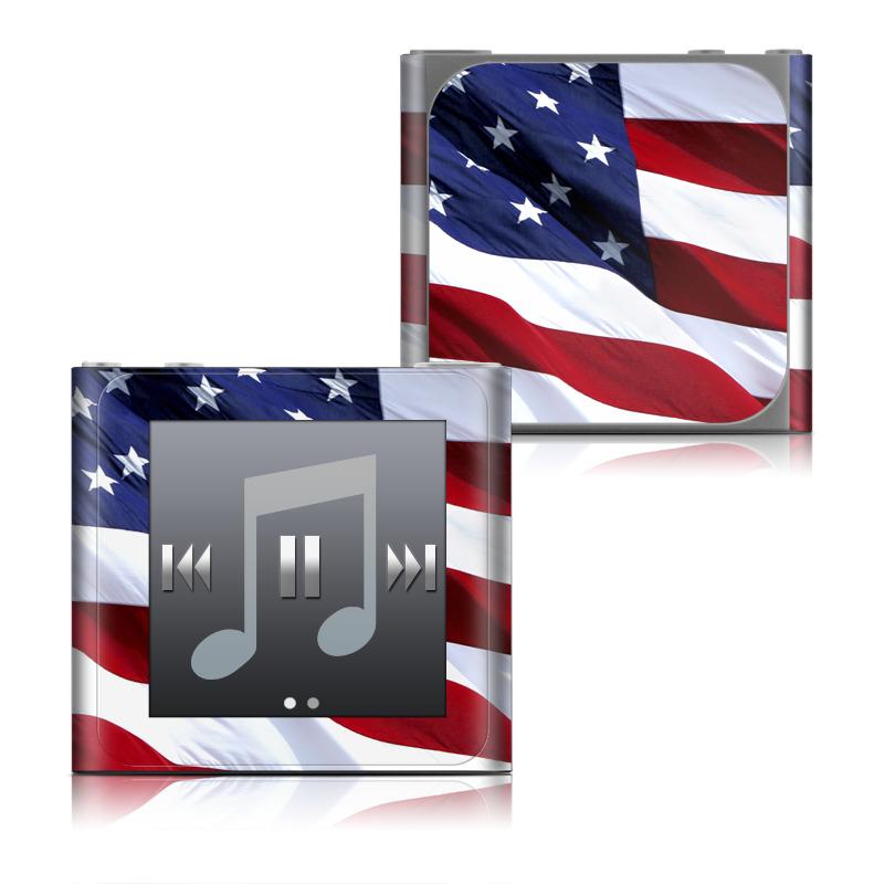 Patriotic iPod nano 6th Gen Skin