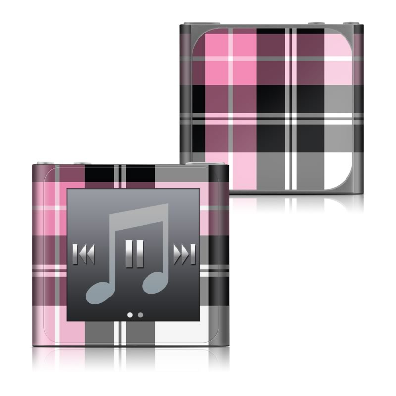 Pink Plaid iPod nano 6th Gen Skin
