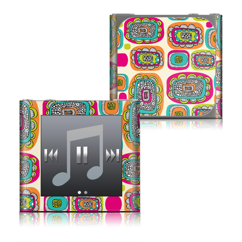 Pod Flowers iPod nano 6th Gen Skin