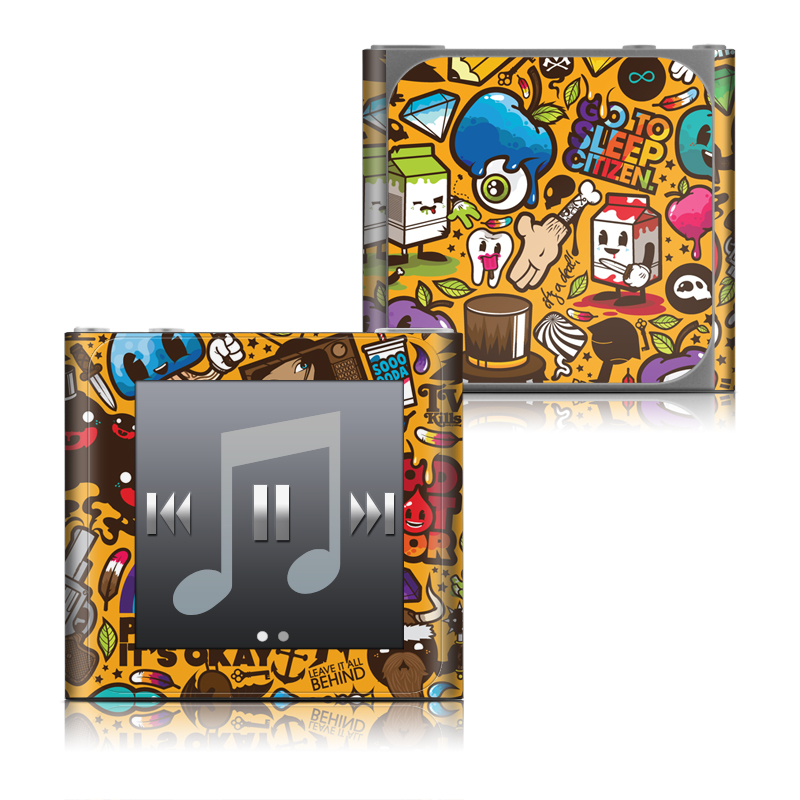 Psychedelic iPod nano 6th Gen Skin