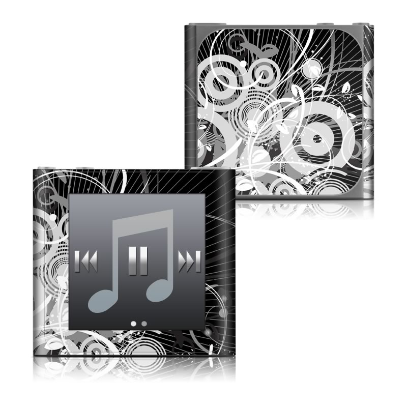 iPod nano 6th Gen Skin design of Black, Monochrome, Black-and-white, Monochrome photography, Graphic design, Illustration, Design, Stock photography, Photography, Still life photography with black, gray, white colors