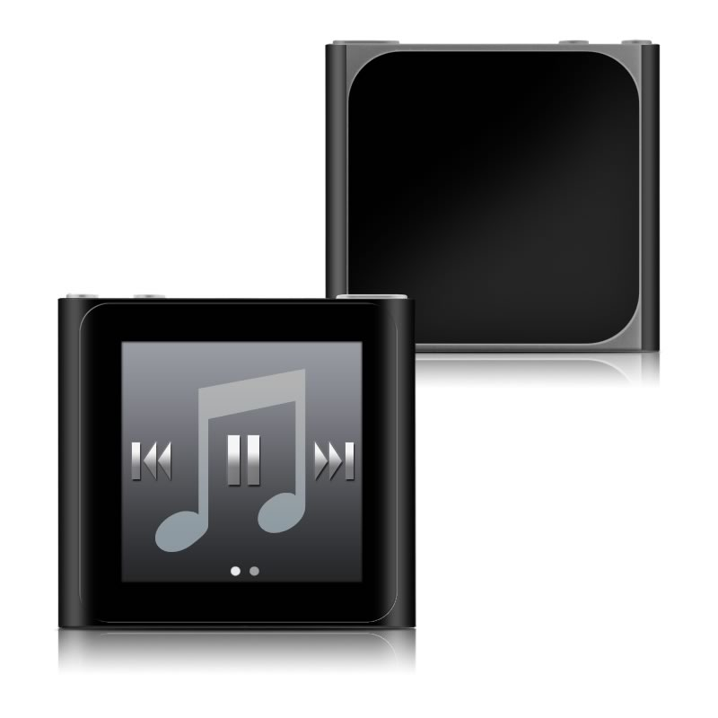 Solid State Black iPod nano 6th Gen Skin