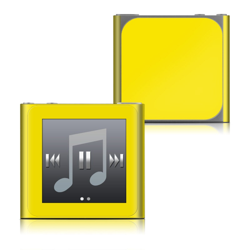 Solid State Yellow iPod nano 6th Gen Skin
