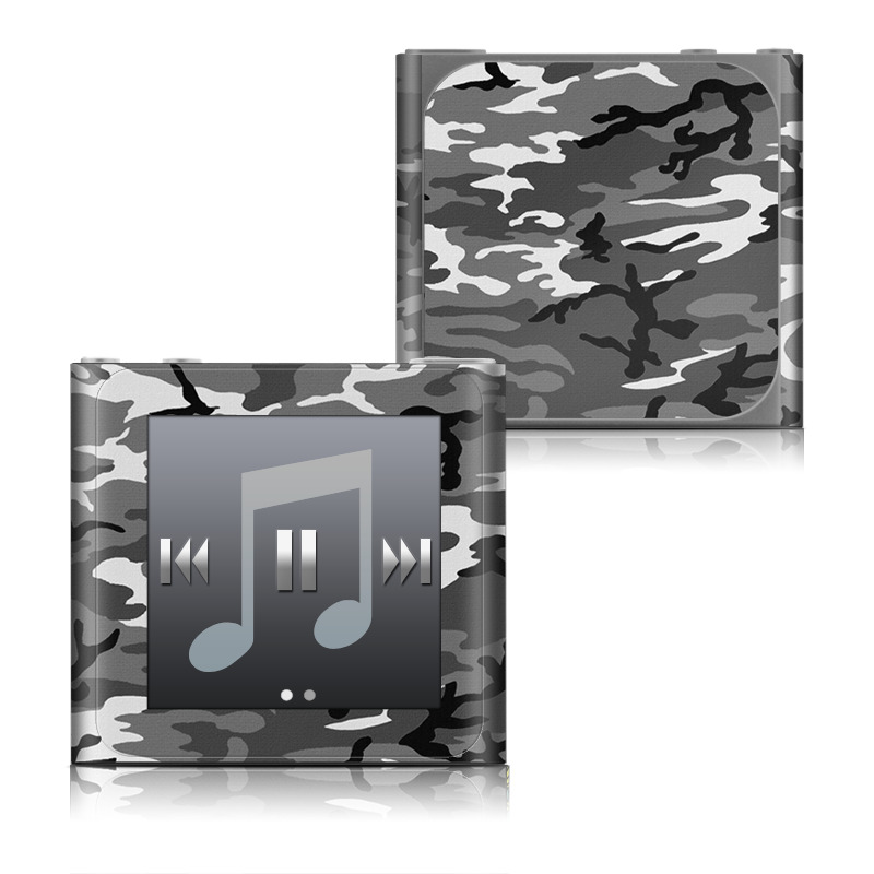 iPod nano 6th Gen Skin design of Military camouflage, Pattern, Clothing, Camouflage, Uniform, Design, Textile with black, gray colors