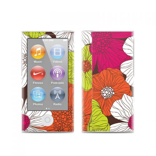 Brown Flowers iPod nano 7th Gen Skin
