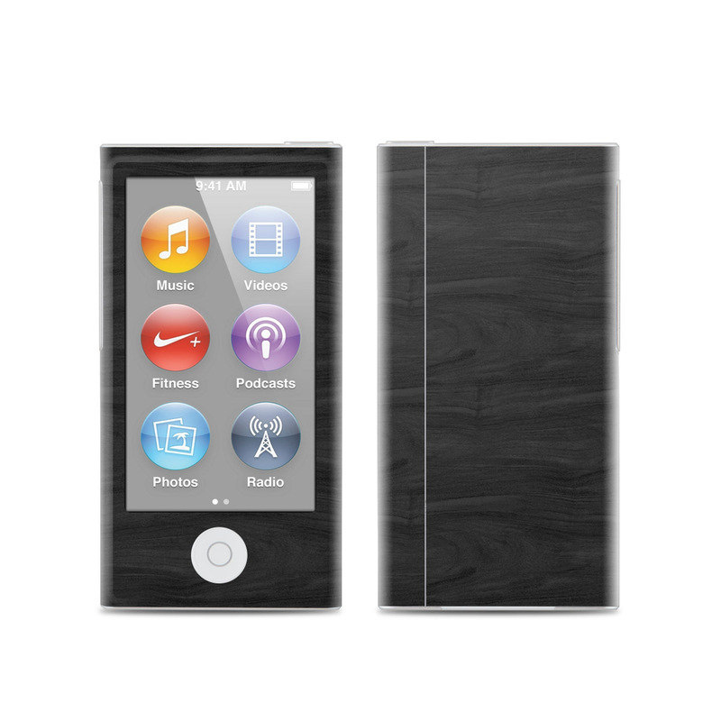 iPod nano 7th Gen Skin design of Black, Brown, Wood, Grey, Flooring, Floor, Laminate flooring, Wood flooring with black colors