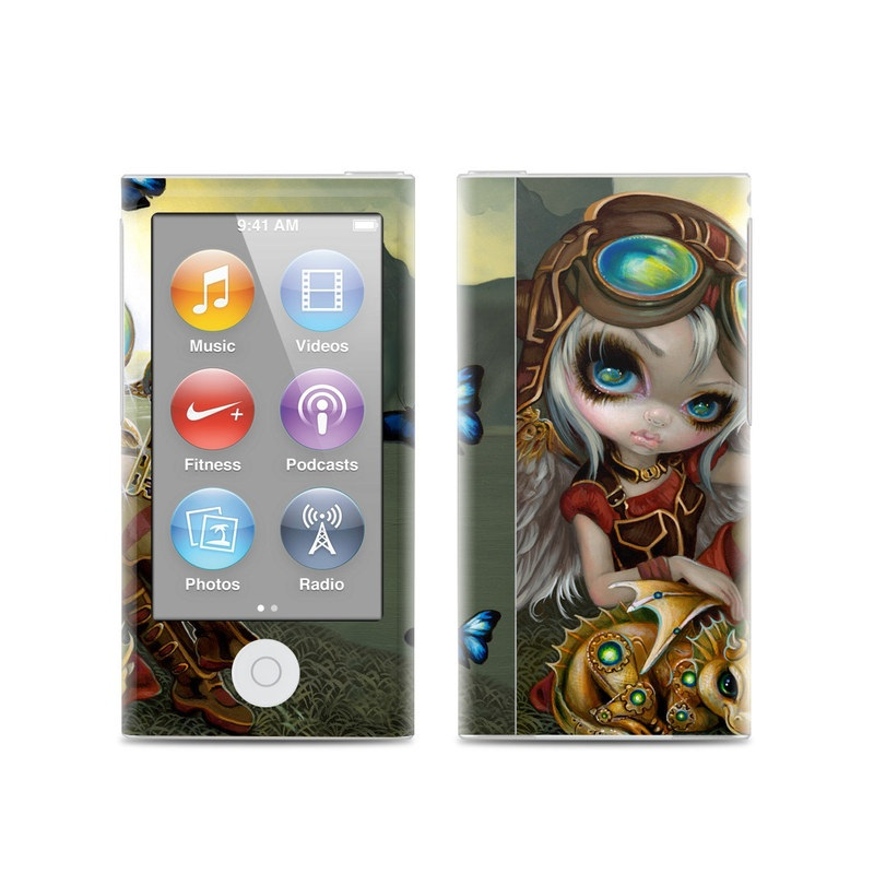 iPod nano 7th Gen Skin design of Cg artwork, Illustration, Fictional character, Art, Mythology, Games, Massively multiplayer online role-playing game with black, green, red, yellow, brown, blue colors