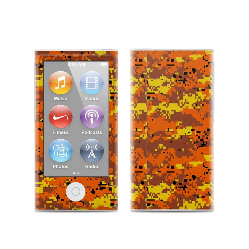 Digital Orange Camo iPod nano 7th Gen Skin